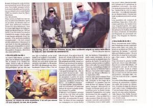 la vie en miettes des accidentés de la route - Article Nice-Matin du 31.01.2015